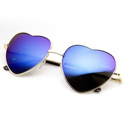 ZeroUV - Thin Heart Shaped Lens Sunglasses