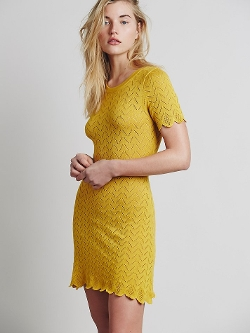 Free People - Lemon Drop T Shirt Dress