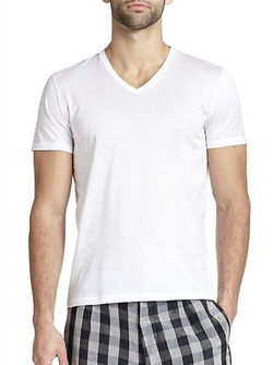 La Perla - Mercerized Cotton V-Neck Tee