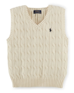 Ralph Lauren - Cable-Knit Cotton Sweater Vest