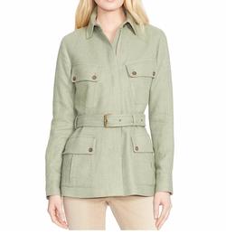 Lauren Ralph Lauren  - Petite Linen-Silk Herringbone Jacket