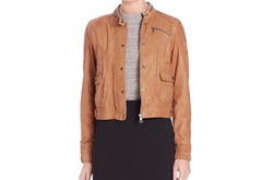 Set - Leather Bomber Jacket