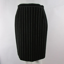 Escada -  Stripes Wool Blend Classic Pencil Skirt