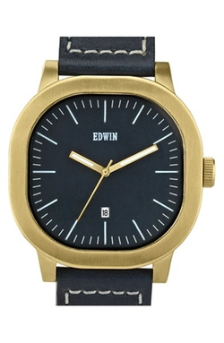 Edwin  - Anderson Leather Strap Watch