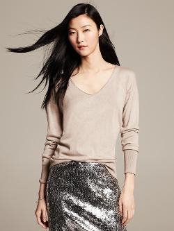 Banana Republic - Monogram Draped V-Neck Pullover