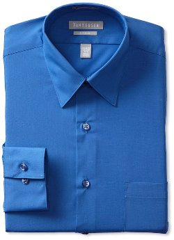 Van Heusen - Fitted Poplin Dress Shirt