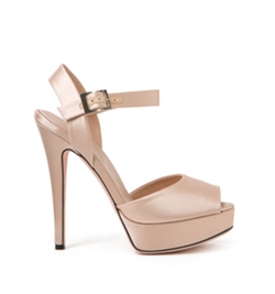 Giambattista Valli - Satin Peeptoe Sandals