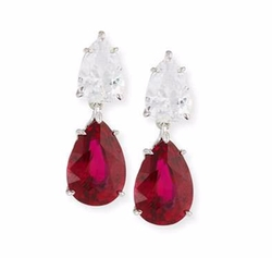 Fantasia By DeSerio  - CZ Double-Drop Earrings