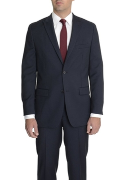 Alfani RED  - Slim Fit Striped Wool Blend Suit