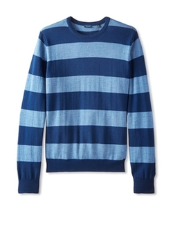 Thirty Five Kent  - Merino Striped Crew Neck Sweater