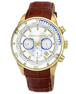Vince Camuto - Luggage Brown Croco-Grain Watch