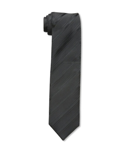 Little Black Tie - Reversible Stripe Floral Tie