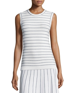 Theory - Prosecco Striped Sleeveless Top