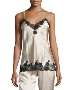 Josie Natori  - Lace-Trimmed Silk Cami
