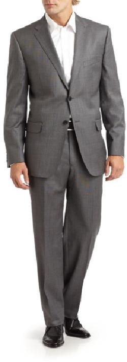 Saks Fifth Avenue - Wool & Silk Two-Button Suit