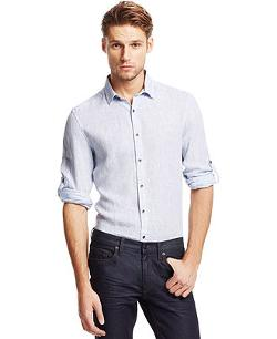 Kenneth Cole New York  - Linen Slub Shirt