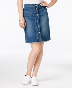 Earl Jeans - Button-Front Denim Skirt