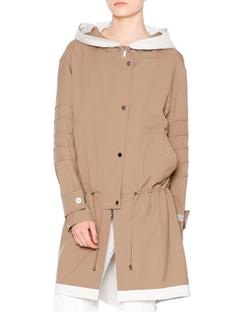 Callens - Waterproof Hooded Drawstring Coat