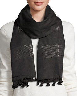 Eileen Fisher - Hand-Loomed Lurex Striped Scarf