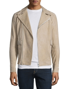 Helmut Lang  - Distressed Nubuck Leather Jacket