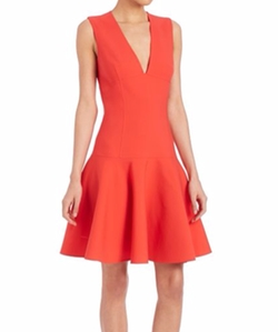 Carolina Herrera - Sleeveless Wool A-Line Dress