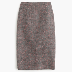 J. Crew - Neon Tweed Pencil Skirt