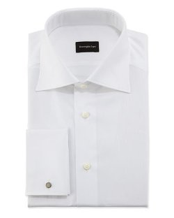 Ermenegildo Zegna	  - Woven Rope Stripe Dress Shirt
