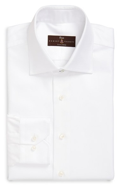 Robert Talbott - Trim Fit Solid Dress Shirt