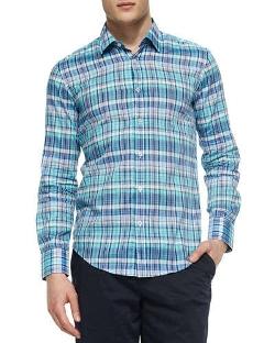 Boss Hugo Boss - Plaid Long-Sleeve Poplin Shirt
