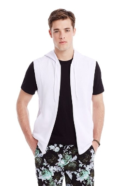 Armani Exchange - Sleeveless Mesh Hoodie Vest