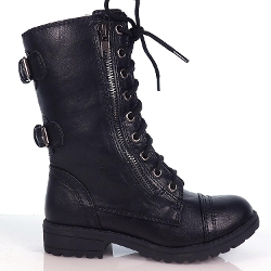 Soda - Lace Up Military Combat Boots
