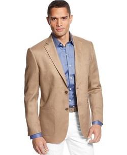 Tasso Elba - Solid Linen 2-Button Blazer