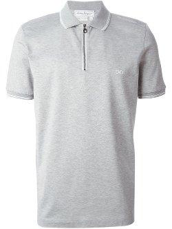 Salvatore Ferragamo - Zip Front Polo Shirt