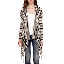 Self Esteem - Long-Sleeve Fringe Cozy Cardigan
