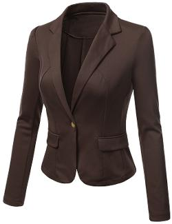 SJSP  - Women Plus-Size Single Breasted Fitted Blazer Jacket