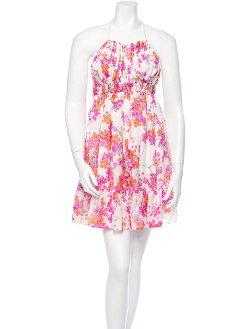 Roberto Cavalli  - Floral Print Silk Dress
