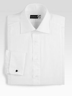 Saks Fifth Avenue Collection  - Pleated Tuxedo Shirt