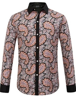 SSLR - Paisley Print Long Sleeve Shirt