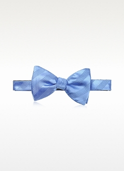 Lanvin - Textured Silk and Cotton Pre-Tied Bow-Tie