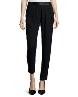 Halston Heritage  - Pleated-Front Slim-Leg Pants