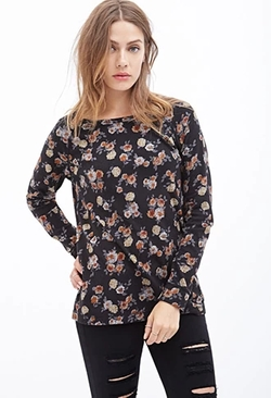 Forever21 - Rose Print Top