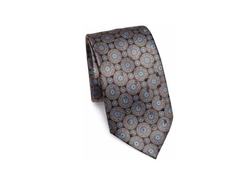 Ermenegildo Zegna - Medallion Printed Silk Tie