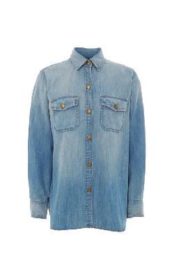 CURRENT/ELLIOTT  - Cotton Denim Shirt