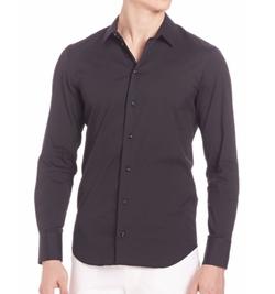 Emporio Armani - Cotton-Blend Long Sleeve Shirt