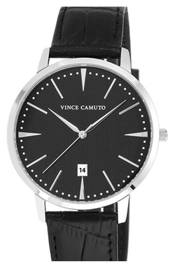 Vince Camuto - Leather Strap Watch