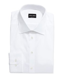 Giorgio Armani  - Long-Sleeve Basic Dress Shirt