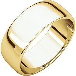 Goldia  - 10k Yellow Gold Half Round Light Wedding Band Ring