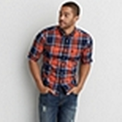 American Eagle - Plaid Button Down Shirt