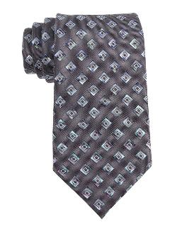 KENNETH COLE NEW YORK  - Classic Fit Diamond Print Silk Tie