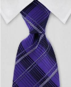 Gentlemanjoe - Purple & Black Plaid Tie